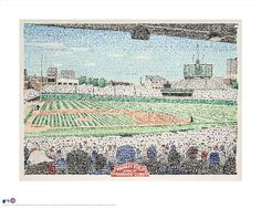 Wrigley Field poster (16x20 Standard size for framing) is an open edition print by artist Daniel Duffy. It was completed using his unique