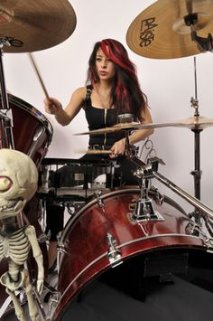 drummers playing drums | Female Drummer Lux's Heavy-Handed Metal Chops Will Make Your Head Spin ...