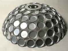 bottlecap lampshade