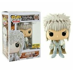Funko has given us a second Labyrinth costume with this owl-cloak festooned David Bowie POP! The cloak itself and his eyes have gold glitter, and the rest of his outfit has silver glitter spangled on it. And where can you get glitter Jareth? Pop Vinyl Figures, Funko Pop Figures, Jim Henson Labyrinth, Labyrinth Movie, David Bowie, Funko Pop Dolls, Funk Pop, Goblin King, Pop Toys