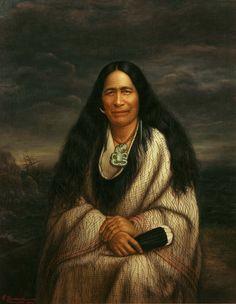 Huria Matenga oil on canvas - Māori Portraits by Gottfried Lindauer Portrait Art, Portrait Photography, Portraits, Maori Legends, Hawaiianisches Tattoo, Tattoos, Polynesian People, Maori People, Maori Designs