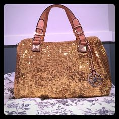 Michael Kors Sequins Grayson Satchel Limited edition Micheal Kors gold sequence satchel Michael Kors Bags Satchels