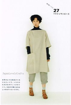 Apron & Apron Dress by Yoshiko Tsukiori - Straight Stitch Sewing - Japanese Pattern Book for Women Clothing - B1299-63