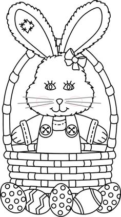 coloring sheets Ah, the Easter Basket. A wonderful surprise on Easter filled with eggs, toys, and candy that kids love. It might be the single most fun way to celebrate the holiday. Easter Coloring Sheets, Bunny Coloring Pages, Spring Coloring Pages, Easter Colouring, Colouring Pages, Coloring Pages For Kids, Coloring Books, Easter Coloring Pages Printable, Free Coloring
