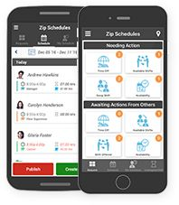 Free mobile app for employees and managers with schedule change ...
