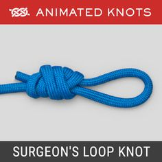 """The Surgeon's Loop is essentially a Double Overhand Knot. The Surgeon's Loop can be tied quickly and easily in the end of a line. It is often used to make a """"Loop to Loop"""" connection in the same way that two elastic bands can be hooked into each other. Tying Fishing Knots, Snell Knot, Quick Release Knot, Splicing Rope, Animated Knots, Scout Knots, Survival Knots, Best Knots, Knots Guide"""