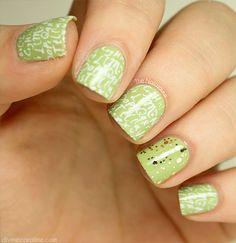 vert tendre et blanc + doré