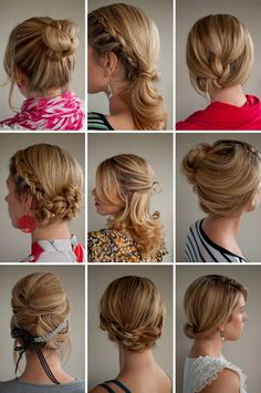 Romantic styles for long hair.............