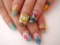 spongebob nails <3