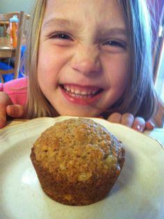 Gluten Free Banana Oatmeal Muffins (dairy free too) | Gluten Free Recipes that my husband and kids LOVE