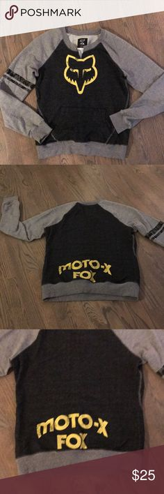Fox Racing Sweatshirt Front pocket, MOTO-X stamped on back. 60% Cotton, 40% poly. Fox Tops Sweatshirts & Hoodies