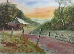 """Farm Sunset"" by Debra Lohrere. Paintings for Sale. Bluethumb - Online Art Gallery"