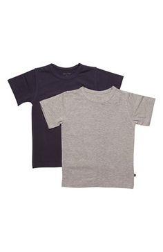 Cool Minymo T-shirt 2-Pack Marine Gråmeleret Minymo T-shirt til Børn & teenager i lækker kvalitet