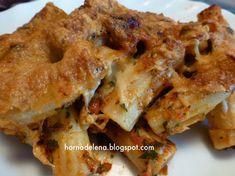 Recetas Caseras Fáciles MG: Macarrones gratinados. Receta casera. Chorizo, Apple Pie, Desserts, Food, Al Dente, Salads, Grated Cheese, Pasta Recipes, Homemade Recipe