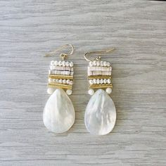 Hey, I found this really awesome Etsy listing at https://www.etsy.com/listing/574320460/white-beaded-earrings-ivory-teardrop