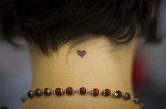 Small heart in the neck