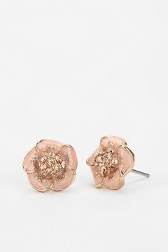 Rhinestone Flower Earring
