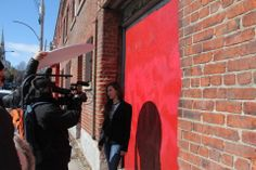 filming a short video #video #coming #up #red #wall