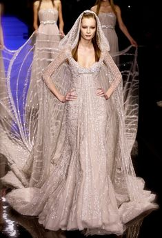 Elie Saab Couture 2007...the train's a bit long, but I really do like this. Especially the hood.