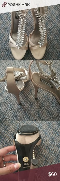 Beautiful Adrienne Maloof heels!! Beautiful shoes,worn once! Adrienne Maloof Shoes Heels