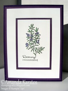 Herb Expressions - Rosemary by Hauntedradio - Cards and Paper Crafts at Splitcoaststampers