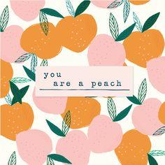 you are a peach // cratepaper +maggieholmes // design Cute Illustration, Graphic Design Illustration, Crate Paper, Fruit Art, Grafik Design, Wall Collage, Cute Wallpapers, Art Inspo, Peach