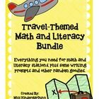 Everything you need for math and literacy centers for a travel-themed unit plus some travel-themed writing prompts and other random goodies! Includ...