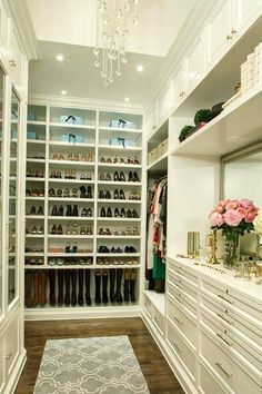 One Day It Will Be Mine. Bedroom Designs With Walk In Closets And Closet  Organizing Tips. Walk In Robe   Girly   Chandelier