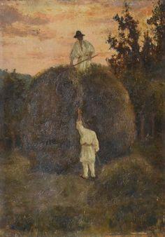 Theodor Pallady - Strângerea fânului la Bucium