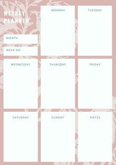 Planner Pdf, To Do Planner, Weekly Planner Template, Daily Planner Pages, School Planner, College Planner, Project Planner, Printable Planner, Week Planer