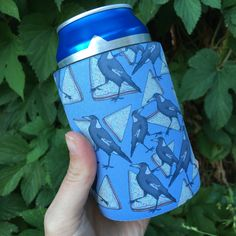 Wrap around Stubby Holder / Cooler / Cozy with Velcro closure (bottomless!) featuring Magpies and fairy bread. Fairy Bread, Arizona Tea, Magpie, Drinking Tea, Drink Sleeves, My Etsy Shop, Handmade, Stuff To Buy, Beautiful
