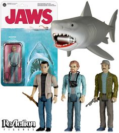 Jaws ReAction – Action Figures Funko do Filme Tubarão Estilo Retro