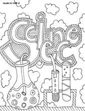 Tons of FREE doodle art coloring pages. I love these as binder covers.