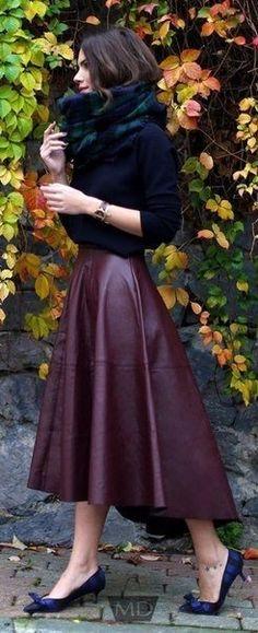 Тренд этого года - юбки-миди.