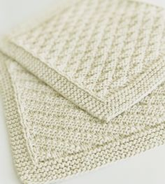 Billedresultat for babytæpper Baby Knitting Patterns, Free Knitting, Crochet Patterns, Knitted Washcloths, Knit Dishcloth, Knitted Fabric, Knit Crochet, Drops Design, Free Pattern