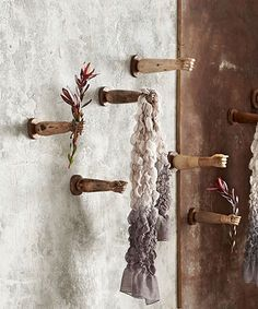 Roost Los Brazos arm hooks at Mrs. Hand Sculpture, Wall Sculptures, Root Table, Bliss Home And Design, Wood Pedestal, Home Decor Online, Wooden Hand, Teak Wood, Inspired Homes