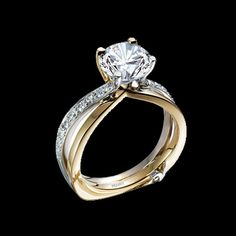 Two-tone Diamond Engagement Ring - my original bridal set is two-tone and I would love for my next set to be two-tone as well. - graciousrose.com