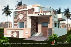 Aslam 2 Single Floor House Design, Small House Design, Modern House Design, Village House Design, Bungalow House Design, Duplex House, Front Wall Design, House Outside Design, Indian House Plans