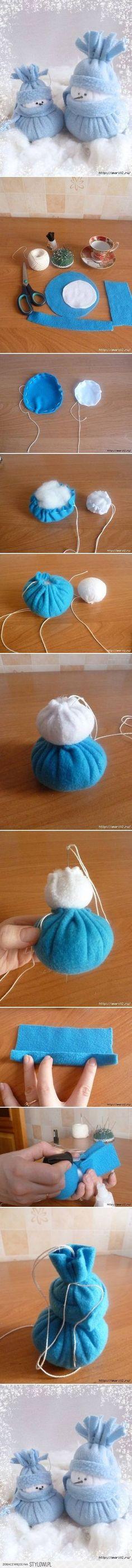 How to Make Felt Snowman Christmas holiday home decor