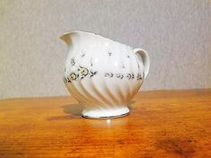 Vintage Style House Fine China Picardy creamer dish pink and