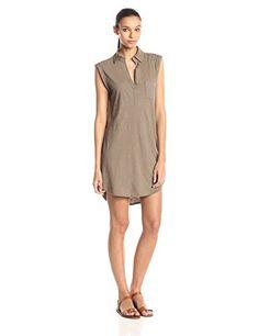 Michael Stars Women's Short Sleeve Shirt Dress