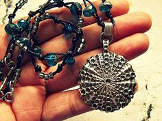 Sea Urchin Necklace, Sea Urchin Jewelry, Ocean Necklace, Ocean Jewelry, Surfer Necklace, Surfer Jewelry, Diver Necklace, Diver Jewelry