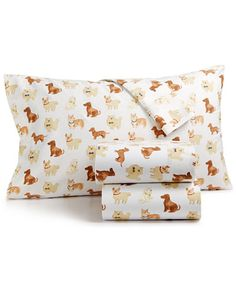 Martha Stewart Collection Show Dogs Cotton 4-Pc. Flannel Queen Sheet Set, Created for Macy's