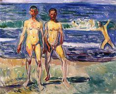 The Athenaeum - Bathing Men (1907) (Edvard Munch - )