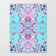 Instant art!  For your wall, laptop cover or iPhone!  Cherry Blossom Stretched Canvas by Amy Sia - $85.00