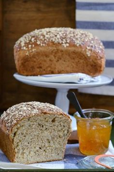 Multigrain Oatmeal Bread. Nuts, seeds and cracked wheat give this wholesome bread a wonderfully crunchy texture.
