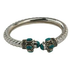 Romantisches Verschluss Armband aus Sterling Silber mit Türkis Halbedelsteinen 5,72 cm von ShalinIndia, http://www.amazon.de/gp/product/B0093JY1IQ/ref=cm_sw_r_pi_alp_cVUWqb1PGQN9E