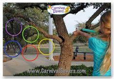 DIY Rocket Blast Carnival Game!How to Play: Carnival players are given 3 Foam Rockets to try to shoot into the Hula Hoop. 0 rockets in the hoop = a consolation prize 1 - 2 rockets in the hoop = a medium prize 3 rockets in the hoop = a top carnival prize