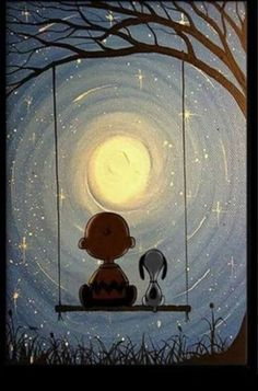 Charlie Brown and Snoopy under the moon. - Gema - Charlie Brown and Snoopy under the moon. Charlie Brown and Snoopy under the moon. Snoopy Love, Charlie Brown Et Snoopy, Snoopy Et Woodstock, Charlie Brown Quotes, Happy Snoopy, Peanuts Snoopy, Peanuts Cartoon, Peanuts Comics, Snoopy Wallpaper