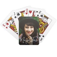 Personal Message Mazel Tov Gold Jewish Star Photo Playing Cards - photo gifts cyo photos personalize